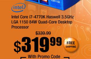 Intel Core i7-4770K Haswell 3.5GHz LGA 1150 84W Quad-Core Desktop Processor