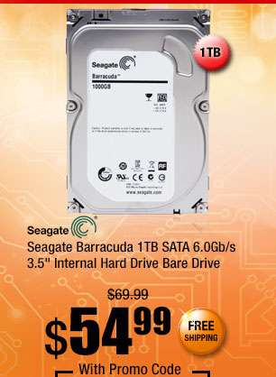 "Seagate Barracuda 1TB SATA 6.0Gb/s 3.5"" Internal Hard Drive Bare Drive"