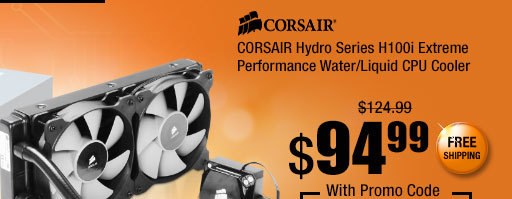 CORSAIR Hydro Series H100i Extreme Performance Water/Liquid CPU Cooler
