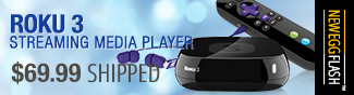roku 3 streaming media player. - neweggflash