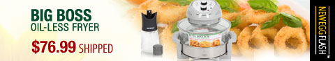 Newegg Flash - Big Boss Oil-Less Fryer.