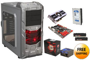 AMD FX-8320 3.5GHz Eight-Core CPU, AMD 970 MOBO, XFX Radeon HD 7870 2GB, G.SKILL SNIPER 8GB MEM, WD 1TB HDD, Rosewill 600W PSU, ENERMAX COENUS GUNMETAL Case