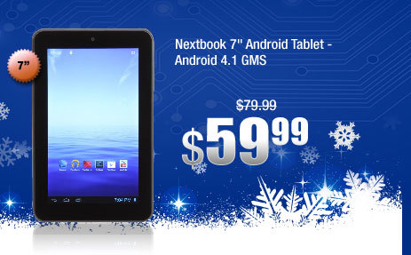 "Nextbook 7"" Android Tablet - Android 4.1 GMS"