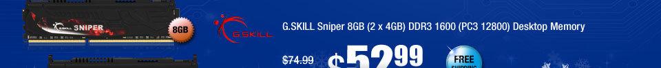 G.SKILL Sniper 8GB (2 x 4GB) DDR3 1600 (PC3 12800) Desktop Memory