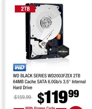 """WD BLACK SERIES WD2003FZEX 2TB 64MB Cache SATA 6.0Gb/s 3.5"""" Internal Hard Drive"""