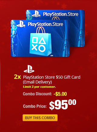 Combo: 2x - PlayStation Store $50 Gift Card (Email Delivery)