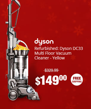 Refurbished: Dyson DC33 Multi Floor Vacuum Cleaner - Yellow