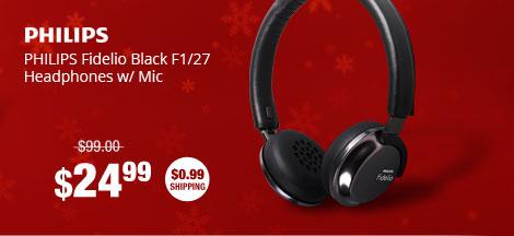 PHILIPS Fidelio Black F1/27 Headphones w/ Mic