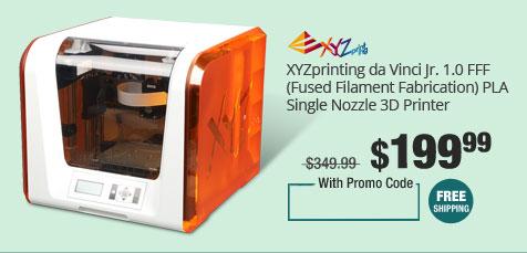 XYZprinting da Vinci Jr. 1.0 FFF (Fused Filament Fabrication) PLA Single Nozzle 3D Printer