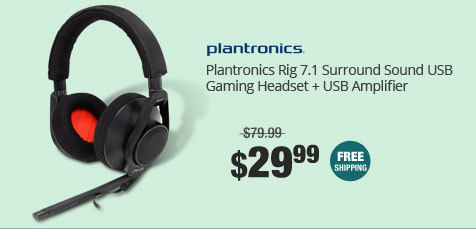 Plantronics Rig 7.1 Surround Sound USB Gaming Headset + USB Amplifier