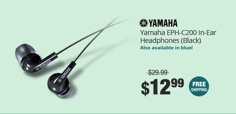 Yamaha EPH-C200 In-Ear Headphones (Black)