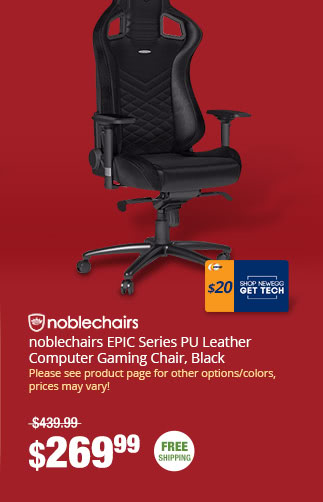 noblechairs EPIC Series PU Leather Computer Gaming Chair, Black