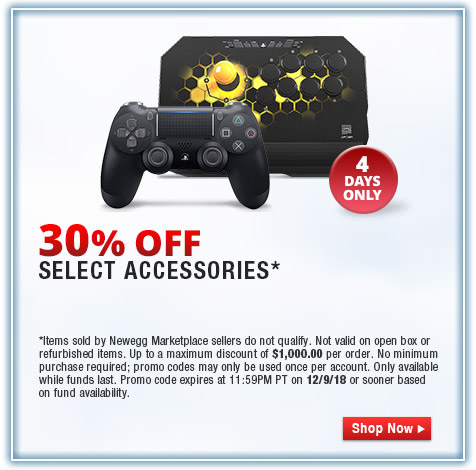 30% OFF SELECT ACCESSORIES*