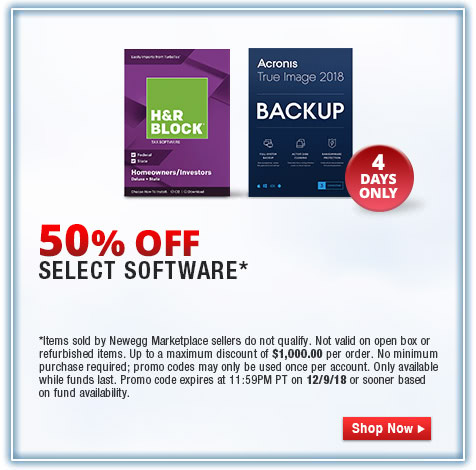 50% OFF SELECT SOFTWARE*
