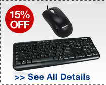 48 HOURS ONLY! 15% OFF SELECT MICROSOFT PERIPHERALS!*