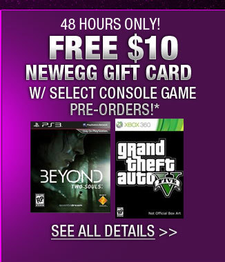 FREE $10 NEWEGG GIFT CARD W/ SELECT CONSOLE GAME PRE-ORDERS