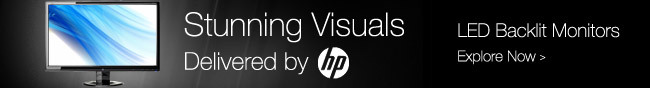 Stunning Visuals Delivered by hp. LED Backlit Monitors. Explore Now.