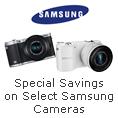 Special Savings On Select Samsung Cameras.