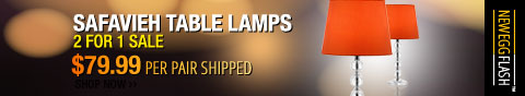 Newegg Flash - Safavieh Table Lamps. 2 For 1 Sale.