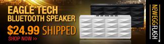 eagle tech bluetooth speaker - 24.99 usd shipped