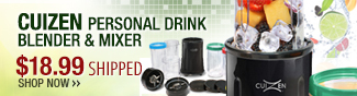 Cuizen personal drink blender & mixer - 18.99 usd shipped