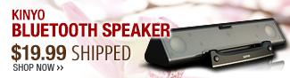 Kinyo Bluetooth speaker 19.99 usd shipped