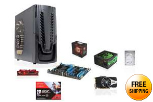 AMD FX-8350 4.0GHz Eight-Core CPU, ASUS 970 MOBO, PowerColor Radeon HD 7870 2 GB, Ripjaws X 8GB MEM, Seagate 1TB HDD, RAIDMAX Cobra 500W PSU, RAIDMAX Horus Case, Free BattleField 4