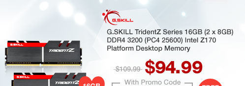 G.SKILL TridentZ Series 16GB (2 x 8GB) DDR4 3200 (PC4 25600) Intel Z170 Platform Desktop Memory