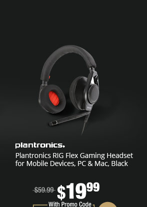 Plantronics RIG Flex Gaming Headset for Mobile Devices, PC & Mac, Black