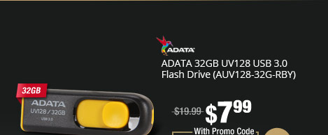 ADATA 32GB UV128 USB 3.0 Flash Drive (AUV128-32G-RBY)
