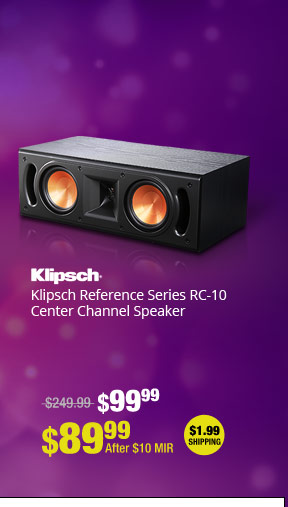 Klipsch Reference Series RC-10 Center Channel Speaker