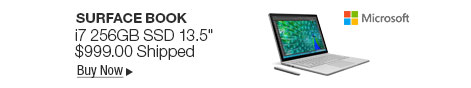 "Newegg Flash � Microsoft Surface Book SW5-00001 Intel Core i7 6th Gen 8 GB Memory 256 GB SSD NVIDIA GeForce Graphics 13.5"" Touchscreen 3000 x 2000 Detachable 2-in-1 Laptop Windows 10 Pro 64-Bit"