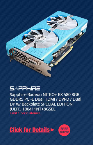 Newegg promo codes coupons discounts promotions and free shipping sapphire radeon nitro rx 580 8gb gddr5 pci e dual hdmi dvi d fandeluxe Image collections