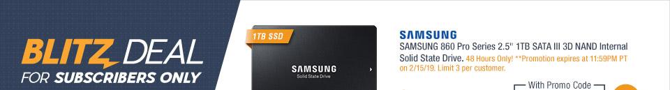 "SAMSUNG 860 Pro Series 2.5"" 1TB SATA III 3D NAND Internal Solid State Drive"