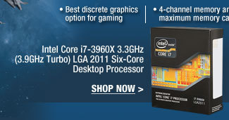 Intel Core i7-3960X 3.3GHz (3.9GHz Turbo) LGA 2011 Six-Core Desktop Processor. SHOP NOW.