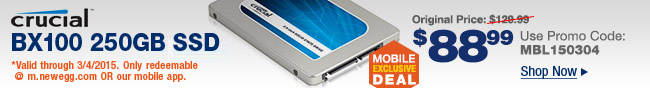 Mobile Exclusive - Crucial BX100 250GB SSD