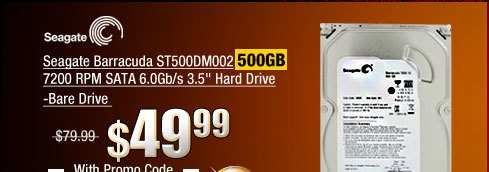 Seagate Barracuda ST500DM002 500GB 7200 RPM SATA 6.0Gb/s Hard Drive -Bare Drive.