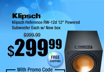 "Klipsch Reference RW-12d 12"" Powered Subwoofer Each w/ New box"