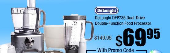 DeLonghi DFP735 Dual-Drive Double-Function Food Processor