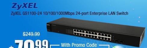 ZyXEL GS1100-24 10/100/1000Mbps 24-port Enterprise LAN Switch