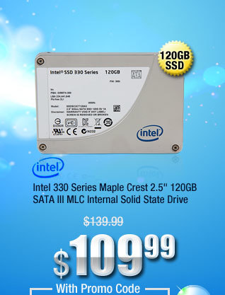 "Intel 330 Series Maple Crest 2.5"" 120GB SATA III MLC Internal Solid State Drive"