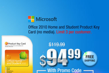 Office 2010 Home and Student Product Key Card (no media)