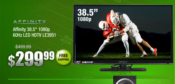 Affinity 38.5 inch 1080p 60Hz LED HDTV LE3951