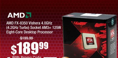 AMD FX-8350 Vishera 4.0GHz (4.2GHz Turbo) Socket AM3+ 125W Eight-Core Desktop Processor