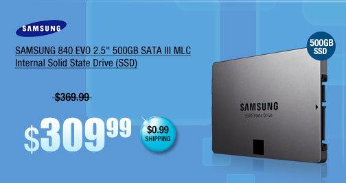"SAMSUNG 840 EVO 2.5"" 500GB SATA III MLC Internal Solid State Drive (SSD)"