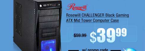 Rosewill CHALLENGER Black Gaming ATX Mid Tower Computer Case