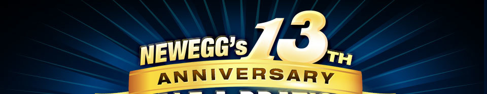 NEWEGG'S 13TH ANNIVERSARY. SALE-A-BRATION
