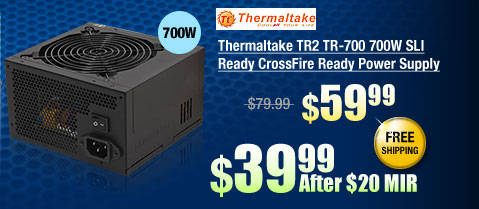 Thermaltake TR2 TR-700 700W SLI Ready CrossFire Ready Power Supply