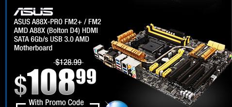 ASUS A88X-PRO FM2+ / FM2 AMD A88X (Bolton D4) HDMI SATA 6Gb/s USB 3.0 AMD Motherboard