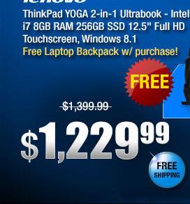 "ThinkPad YOGA 2-in-1 Ultrabook - Intel Core i7 8GB RAM 256GB SSD 12.5"" Full HD Touchscreen, Windows 8.1"